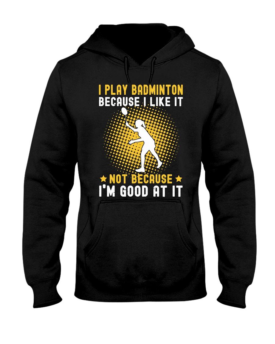 girl like badminton Hooded Sweatshirt
