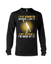 girl like badminton Long Sleeve Tee thumbnail