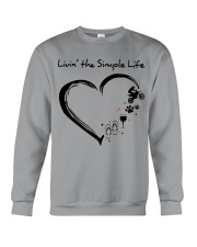 living the simple life - motocross Crewneck Sweatshirt thumbnail