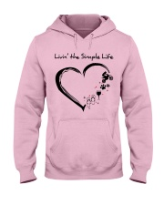 living the simple life - motocross Hooded Sweatshirt front