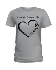 living the simple life - motocross Ladies T-Shirt thumbnail