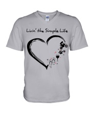 living the simple life - motocross V-Neck T-Shirt thumbnail