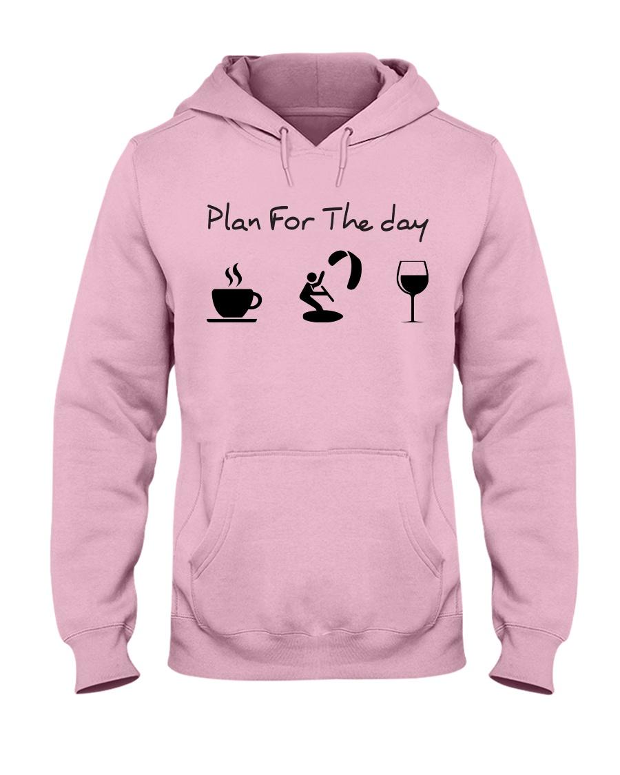 Plan for the day kitesurfing Hooded Sweatshirt