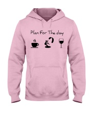 Plan for the day kitesurfing Hooded Sweatshirt front