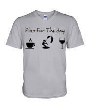 Plan for the day kitesurfing V-Neck T-Shirt thumbnail