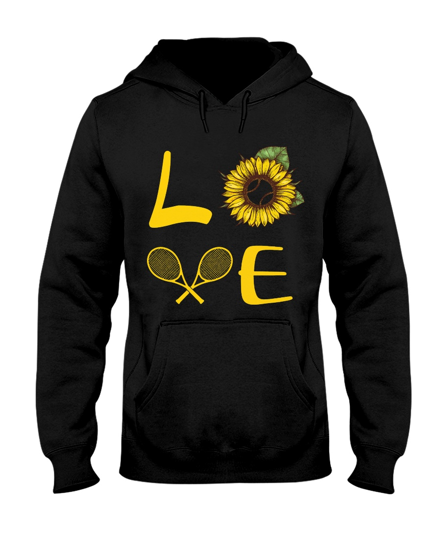 Love tennis Hooded Sweatshirt