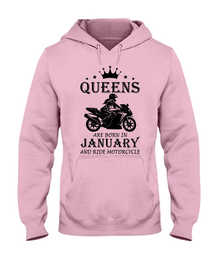 queens motorcycle-january Hooded Sweatshirt