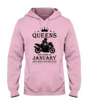 queens motorcycle-january Hooded Sweatshirt front