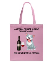 A woman can not survice alone Tote Bag thumbnail