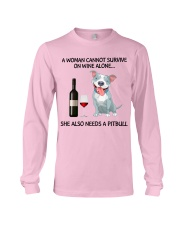 A woman can not survice alone Long Sleeve Tee thumbnail