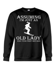 Skiing lady Crewneck Sweatshirt thumbnail