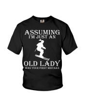 Skiing lady Youth T-Shirt thumbnail