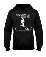 Skiing lady Hooded Sweatshirt front