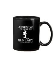 Skiing lady Mug thumbnail