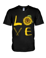 Love baseball V-Neck T-Shirt thumbnail