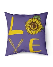 "Love baseball Indoor Pillow - 16"" x 16"" thumbnail"
