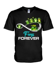 frogs forever V-Neck T-Shirt thumbnail