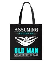 swimming old man Tote Bag thumbnail
