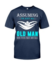 swimming old man Classic T-Shirt thumbnail