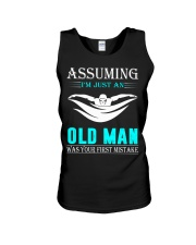 swimming old man Unisex Tank thumbnail