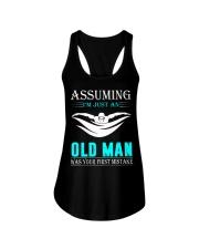 swimming old man Ladies Flowy Tank thumbnail