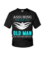 swimming old man Youth T-Shirt thumbnail