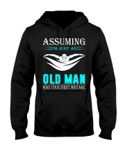 swimming old man Hooded Sweatshirt front