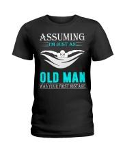 swimming old man Ladies T-Shirt thumbnail