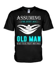 swimming old man V-Neck T-Shirt thumbnail
