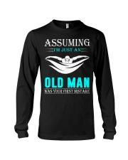 swimming old man Long Sleeve Tee thumbnail