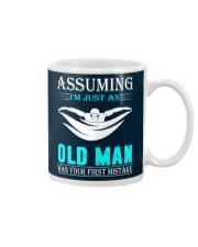 swimming old man Mug thumbnail