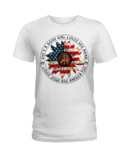 Shes a good girl loves her mama loves jesus americ Ladies T-Shirt thumbnail