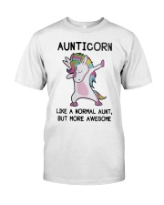 Aunticorn Like A Normal Aunt But More Awesome Classic T-Shirt thumbnail