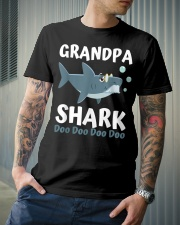 Grandpa Shark - Gift For Grandpa Classic T-Shirt lifestyle-mens-crewneck-front-6