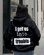 I Get Us Into Trouble Hooded Sweatshirt lifestyle-unisex-hoodie-back-2