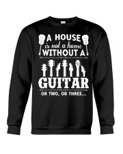 A house is not a home without guitars Crewneck Sweatshirt thumbnail