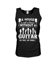 A house is not a home without guitars Unisex Tank thumbnail