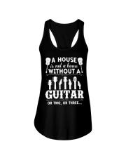 A house is not a home without guitars Ladies Flowy Tank thumbnail