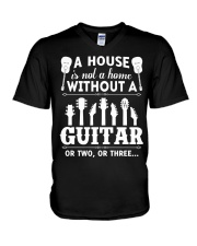 A house is not a home without guitars V-Neck T-Shirt thumbnail