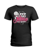 Sleep All Day Nurse All Day T-shirt Nursing Shirt Ladies T-Shirt thumbnail