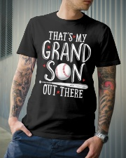 THAT'S MY GRANDSON OUT THERE Classic T-Shirt lifestyle-mens-crewneck-front-6