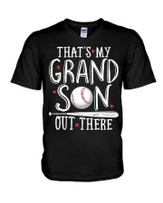 THAT'S MY GRANDSON OUT THERE V-Neck T-Shirt thumbnail