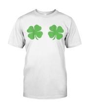 Irish Shamrock Boobs St Patricks Day Classic T-Shirt front