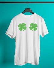 Irish Shamrock Boobs St Patricks Day Classic T-Shirt lifestyle-mens-crewneck-front-3