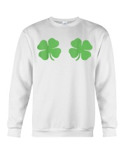Irish Shamrock Boobs St Patricks Day Crewneck Sweatshirt thumbnail