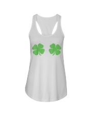 Irish Shamrock Boobs St Patricks Day Ladies Flowy Tank thumbnail