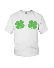 Irish Shamrock Boobs St Patricks Day Youth T-Shirt thumbnail