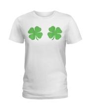Irish Shamrock Boobs St Patricks Day Ladies T-Shirt thumbnail