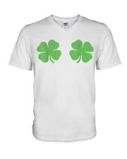 Irish Shamrock Boobs St Patricks Day V-Neck T-Shirt thumbnail