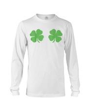 Irish Shamrock Boobs St Patricks Day Long Sleeve Tee thumbnail